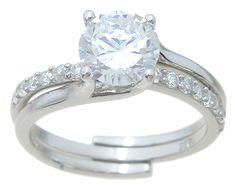 ewholesalesilver: wholesale 925 sterling silver interlocking wedding ring set   wholesale cz jewelry   jewelry manufacturer   wholesale fashion jewelry   wedding ring set