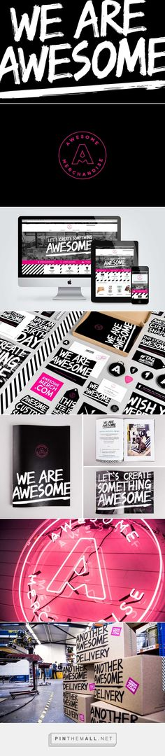 Awesome Merchandise Branding by Robot Food