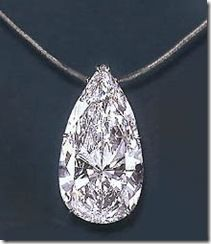 75 carat pear shaped diamond necklace estimates at a whopping 5million dollars.
