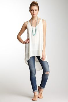 Sleeveless Hi-Lo Tunic
