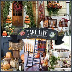 The Cottage Market: Five Fabulous Fall Porches  http://www.thecottagemarket.com/2013/09/five-fabulous-fall-porches.html