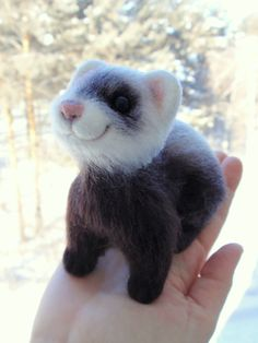 Horya little ferret needle felted OOAK by alenamordvinova on Etsy