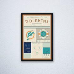 Miami Dolphins Stats Print by DesignsByEJB on Etsy