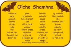 Mata Focal Oíche Shamhna Ireland Language, Irish Language, Primary Teaching, Primary School, Recount Writing, Irish Toasts, Finnegans Wake, Scottish Gaelic, Irish Landscape