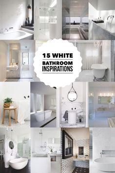 15 White Bathroom Inspirations  |  designlibrary.com.au #bathroomideas