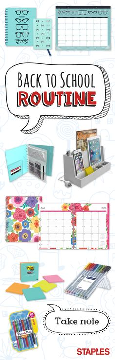 This year, send the kids back to school in style — starting with your own desk. Stay on top of your tasks with trend-setting accessories that make organization even more appealing, from planners to colored pens and everything in between. Back 2 School, Going Back To School, Middle School, High School, School Routines, School Hacks, School Tips, School Fun, School Stuff