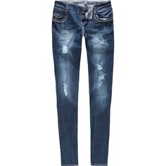 VANILLA STAR Womens Skinny Jeans ❤ liked on Polyvore