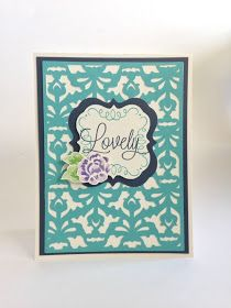 Courtney Lane Designs: Close To My Heart Artbooking lovely card.