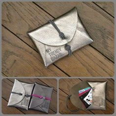 Leather pouch/ clutch/ wallet with elastic closure Diy Clutch, Diy Purse, Clutch Bag, Leather Gifts, Leather Pouch, Leather Craft, Diy Sac, Diy Accessoires, Diy Wallet