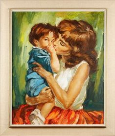 Artist Charles Antal Roka - FindArtinfo Antique Paint, Mother And Child, Art For Kids, Modern Art, Sculptures, Paintings, Watercolor, Children, Artist