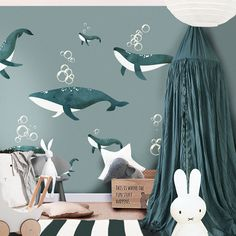 We just need to know the measure of your wall - Kinderspielzimmer Aufbewahrung Einrichten Gestalten Ideen Ikea Hacks Jungen Wand Baby Boy Rooms, Baby Bedroom, Kids Bedroom, Nursery Wall Decor, Nursery Room, Little Hands Wallpaper, Boys Room Wallpaper, Ocean Themed Nursery, Casa Kids