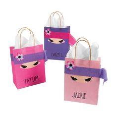 Ninja Girl Treat Bags Favor Idea - OrientalTrading.com