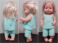 Las cucadas de Carlota y sus muñecas: Patrón conjunto pantalón corto y camiseta en plume...