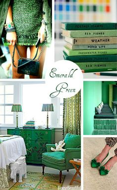 Emerald Green- one of my very favorite colors.
