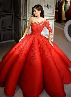 Red lace cinderella gown formal gowns в 2019 г. Red Ball Gowns, Red Gowns, Ball Gown Dresses, 15 Dresses, Pretty Dresses, Red Lace Gown, Pageant Dresses, Quinceanera Dresses, Evening Dresses For Weddings