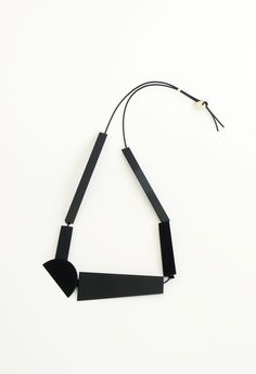 Hanging sculpture necklace (black), 2013-ongoing series by Meredith Turnbull