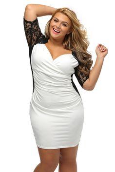 Achat robe noire col blanc