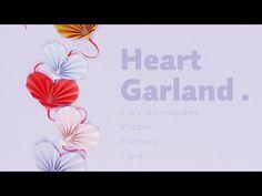 ORIGAMI HEART GARLAND - YouTube Origami Heart, Heart Garland, The Creator, Stationery, Valentines, Youtube, Products, Valentine's Day Diy, Origami Hearts