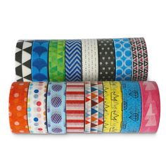 Premium Washi Masking Tape Collection SET OF 16 by Kimono Tape Vibrant Decorative Japanese Paper Tapes Special Edition I *** Find out more about the great product at the image link. Scrapbook Quotes, Scrapbook Stickers, Scrapbook Paper, Tape Crafts, Sewing Crafts, Diy Crafts, Masking Tape, Washi Tape, Tapas
