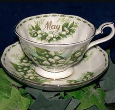 Royal Albert China Series - Flower of the Month Series 1970 Lilly of the Valley