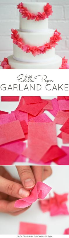 adorable Paper Garland Cake | by Erica OBrien for TheCakeBlog.com