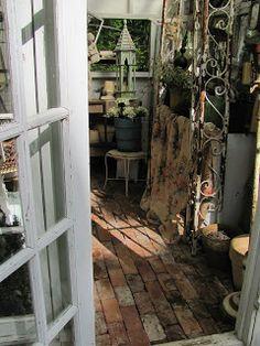 Brick Floor for Greenhouse