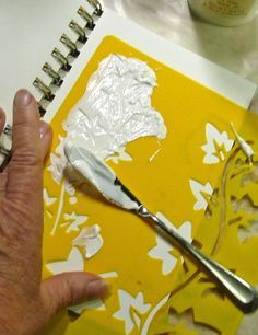 Homemade modeling paste. Idea: make stencils worth Silhouette and this paste to add texture to cards and scrapbooks.