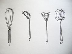 kitchen utensils. #e