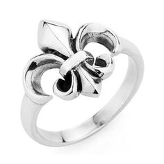 Fashion 925 Sterling Silver Chrome Heart Ring