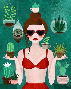 #succulentplants #piantegrasse #illustration #green Plant Illustration, Digital Illustration, Cute Walpaper, Cactus Pictures, Plant Art, True Art, Mask Design, Watercolor Paintings, Costumes