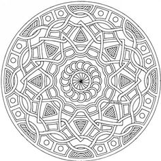 Mandala Geometric Coloring Pages Detailed Sheets