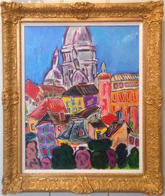 """Pierre Mori, """"Sacre Coeur,"""" oil on canvas, 31 x 24 ins. Pierre Mori was born in Paris in 1942. For more information about Mori and this painting, call Kamp Gallery at 847-441-7999."""