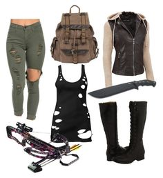 Designer Clothes, Shoes & Bags for Women Zombies Run, Polyvore Fashion, Forever 21, Running, Shoe Bag, Leather, Stuff To Buy, Shopping, Collection