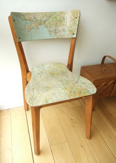 Map chair | The DIY Adventures- upcycling, recycling and do it yourself from around the world.