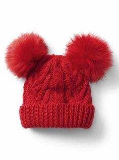 544c2e17 Toddler Girls' Accessories: knit hats, headbands, mittens, leg warmers,  purses · Red Beanie HatToddler Winter ...