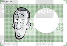 Greeting card with a sleepy man face – place your custom text