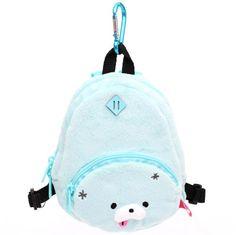 turquoise Zombbit zombie animal rabbit plush backpack bag