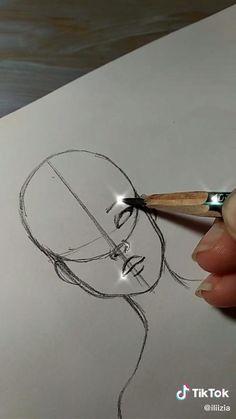 Art Drawings Sketches Simple, Anime Drawings Sketches, Art Drawings Beautiful, Pencil Art Drawings, Realistic Drawings, Eye Drawing Tutorials, Art Tutorials, Diy Canvas Art, Art Sketchbook