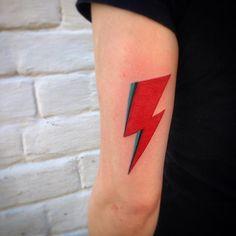 david bowie lightning aladdin sane ziggy stardust rock tattoo
