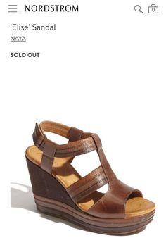 9bffa8f26 Naya ELISE A5511L Womens 8.5 W Brown COLOR BLOCK Leather Platform Wedge  Heels