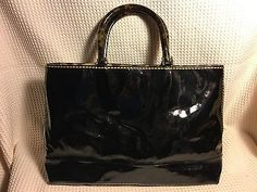 PLINIO VISONA Black Patent leather lucite marbled Plastic Handle large tote | Clothing, Shoes & Accessories, Women's Handbags & Bags, Handbags & Purses | eBay!