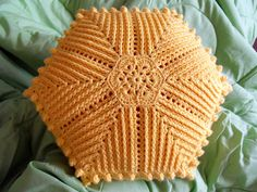 African Flower Cushion - crochet cushion that is beautiful inspiration