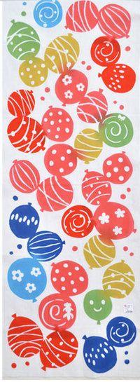water balloons - summer; 【カヤ】注染手ぬぐい「水風船」