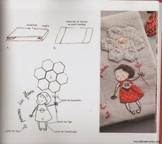The Latest Trend in Embroidery – Embroidery on Paper - Embroidery Patterns Paper Embroidery, Hand Embroidery Designs, Embroidery Applique, Cross Stitch Embroidery, Applique Patterns, Applique Quilts, Quilt Patterns, Motifs D'appliques, Quilted Gifts