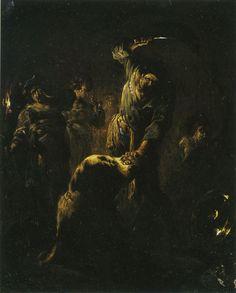 "maertyrer: ""Leonaert Bramer The Beheading of Saint John the Baptist 1613 "" Art Nouveau, John The Baptist, Fantastic Art, Macabre, Aesthetic Art, Dark Art, Art World, Painting & Drawing, Comic Art"