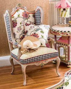 MacKenzie-Childs Chelsea Garden Wing Chair #Promotion…#PaidAd#ad#affiliatelink
