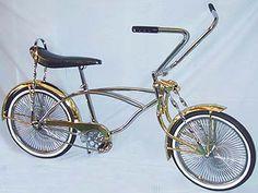 gold_chorme Lowrider bike