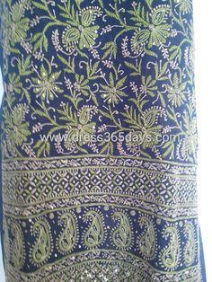 Designer cotton chikankari embroidery...
