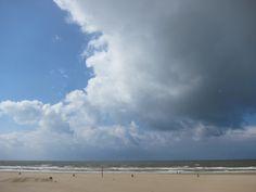 Clouds over beach, Scheveningen