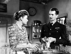"""The Way To The Stars"" (1945), Rosamund John and Michael Redgrave."